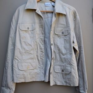{Chico's} Tan / Khaki Lightweight Jacket